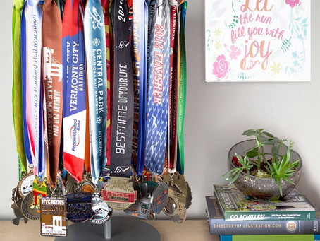 Best way to display medals without drilling into the walls.
