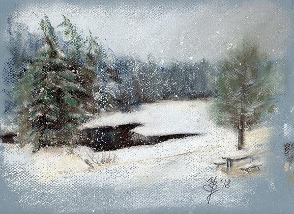 Winter Rockwood / framed