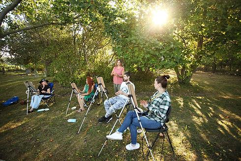 Art picnic in Kitchener