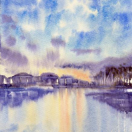 Sky and pond 2018