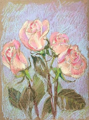 Peach color roses