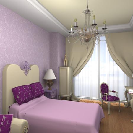 "Bedroom ""Purple Princess"" for a girl"