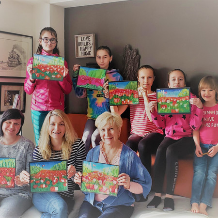 Paint morning for different ages!