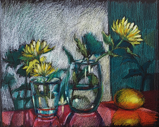 Lemon and yellow flowers
