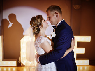 taniec ślubny napis Love, fotograf Suwałki Olecko