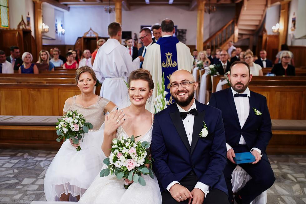 radosc pary młodej kościoł Olecko