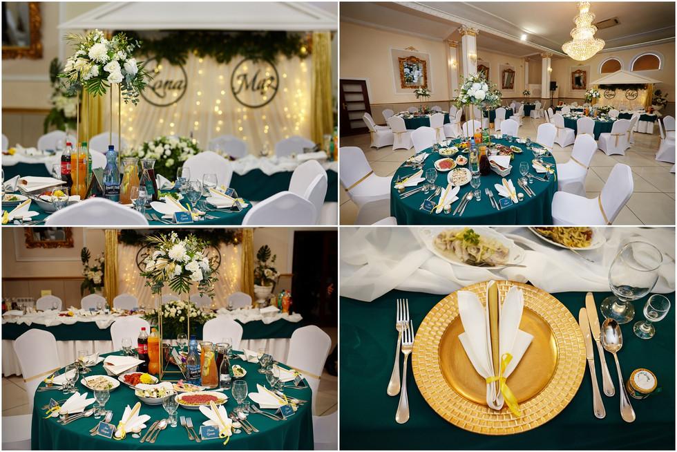 detale na salii weselnej w Olecku