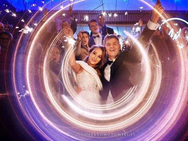 zimne ognie na weselu fotograafia ślubna