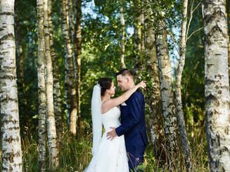 profesjonalny fotograf ślubny Olecko, zdjecia ślubne w lesie