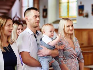 ceremonia chrztu Olecko