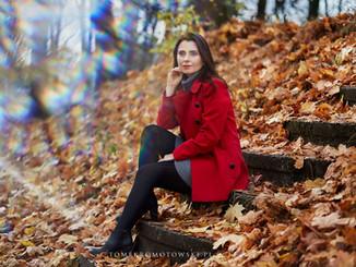 sesja portret jesienna olecko
