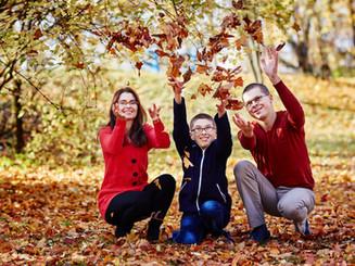 zdjęcia rodzinne jesienia Olecko