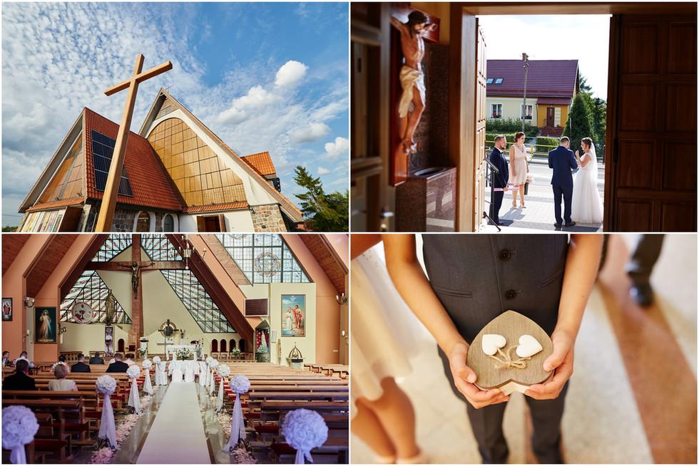 kościół kowale Oleckie -ceremonia slubna