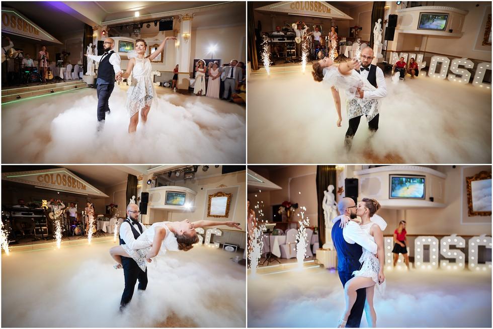 pierwszy taniec pary młodej Olecko