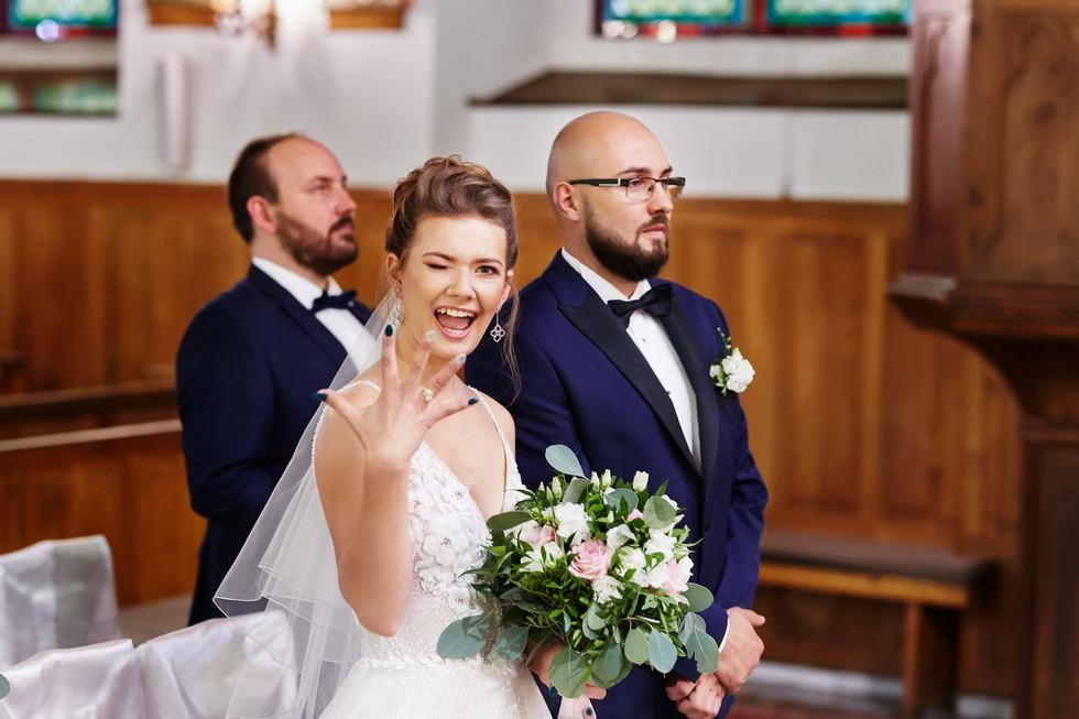 uśmiech po przysiędze małżeńskiej