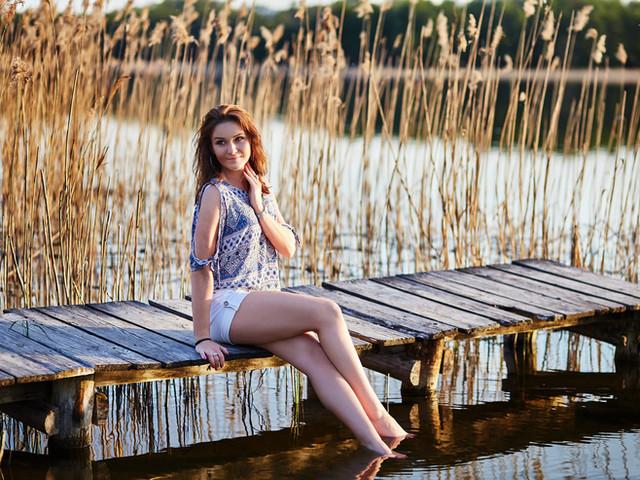 sesja nad jeziorem Olecko romotowski fotograf