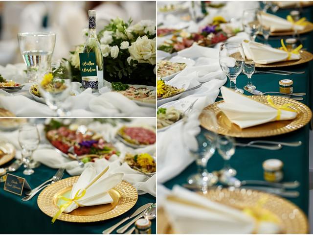dekoracje ślubne na stoły Olecko