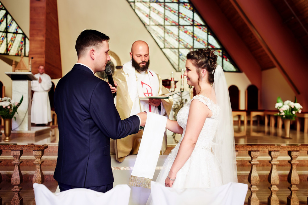 ślub  w kościele Kowale Oleckie