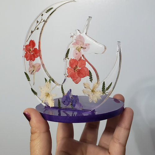 Floral Unicorn Home Decor