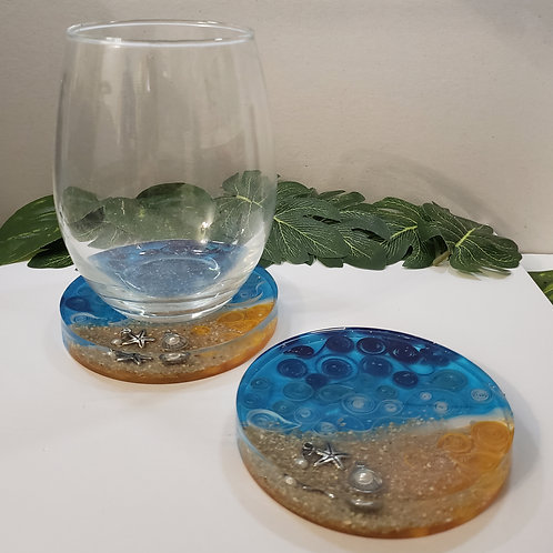 Beach Themed Coasters - Set of 2