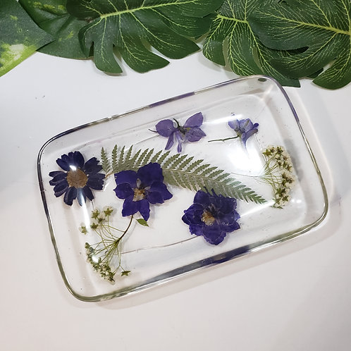 Purple Flower Dish