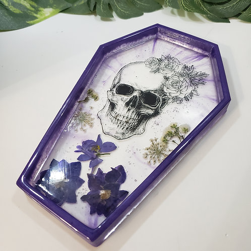 Skull and Flowers Dish