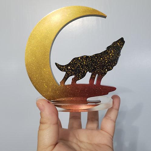 Gold Moon Wolf