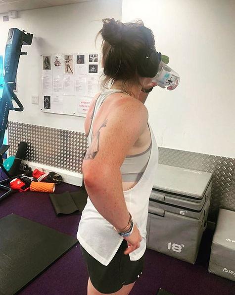 Absolutely brutal workout.jpe ➡️ Swipe t