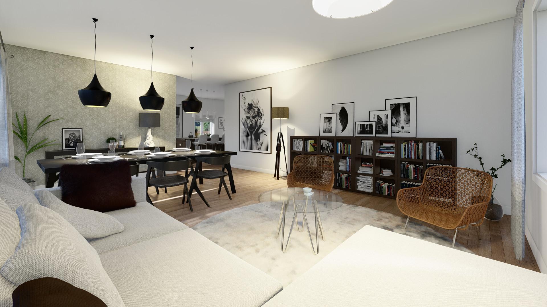 Golden Bluffs_Living room and Dinningroo