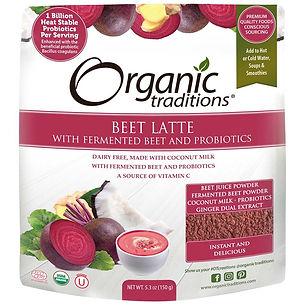 Organic Tradition_Latte à la betterave avec gingembre