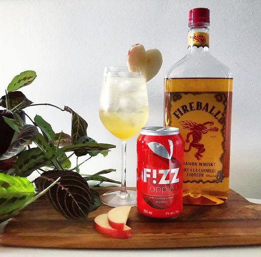 Cocktail le Spritz de feu avec Fireball