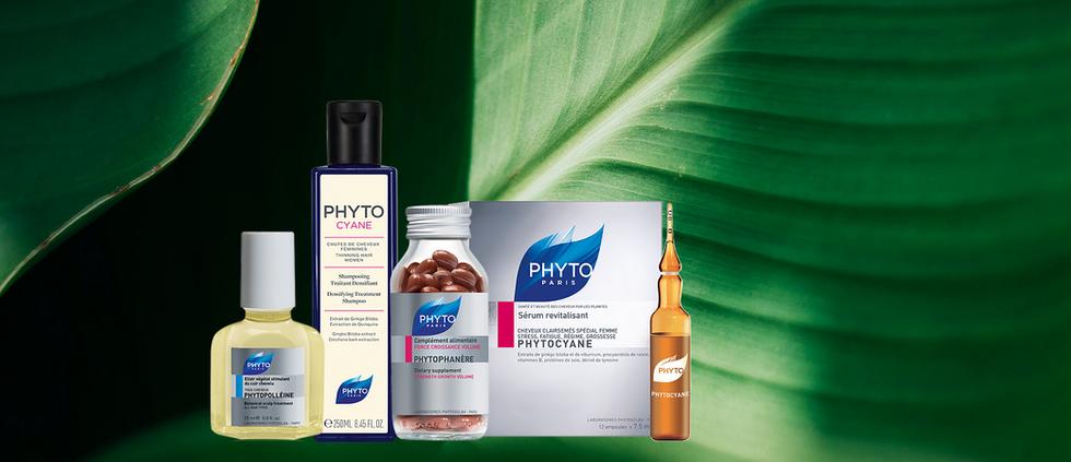 Perte de cheveux: la problématique abordée au féminin - Y remédier à l'aide de 4 produits PHYTO novateurs de base naturelle