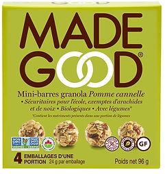 MadeGood_Mini-barres granola_Pomme canne