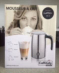 Boîte Moussoir Latte+ Chrome de Caffitaly