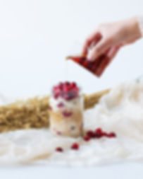 Yumi Organics - gruau-frigo canneberges-érable