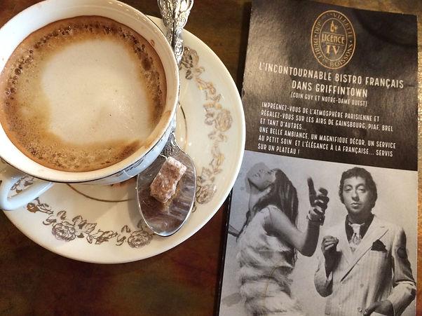 Bistro Licence IV Café et Gainsbourg