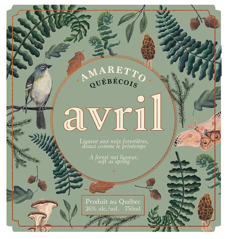 Avril, doux comme le printemps - Premier amaretto québécois