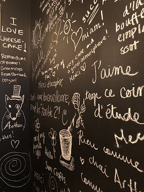 Bristol Chai - Mur des toilettes