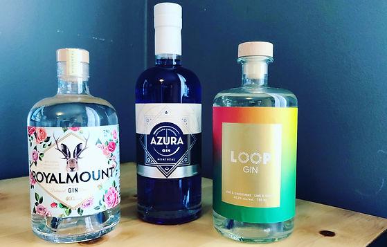 Les nouveaux gins québécois - PARTIE 2 - Royalmount, Azura & Loop