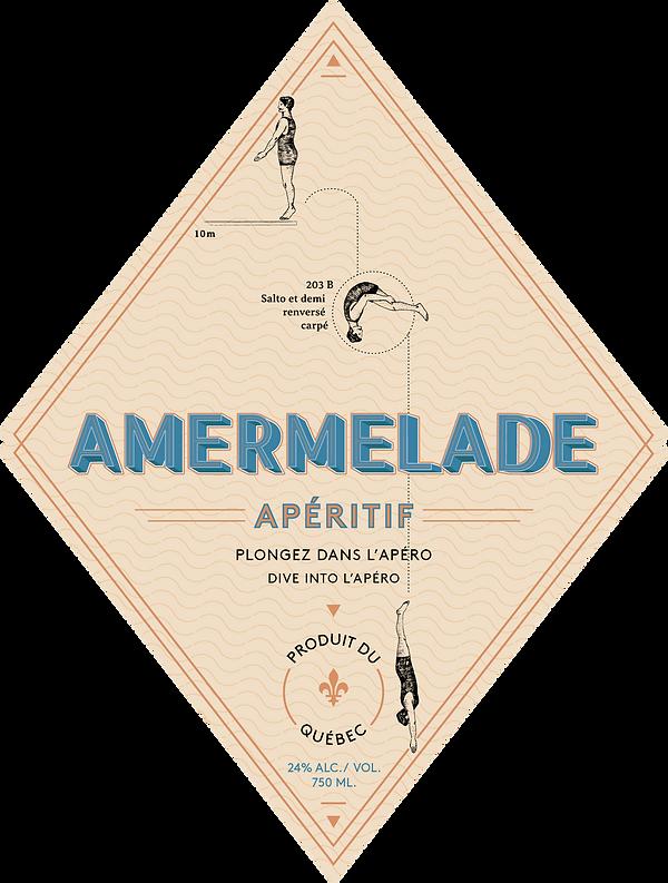 Amermelade Étiquette bouteille