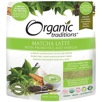 Organic Tradition_ Latte de matcha avec vanille