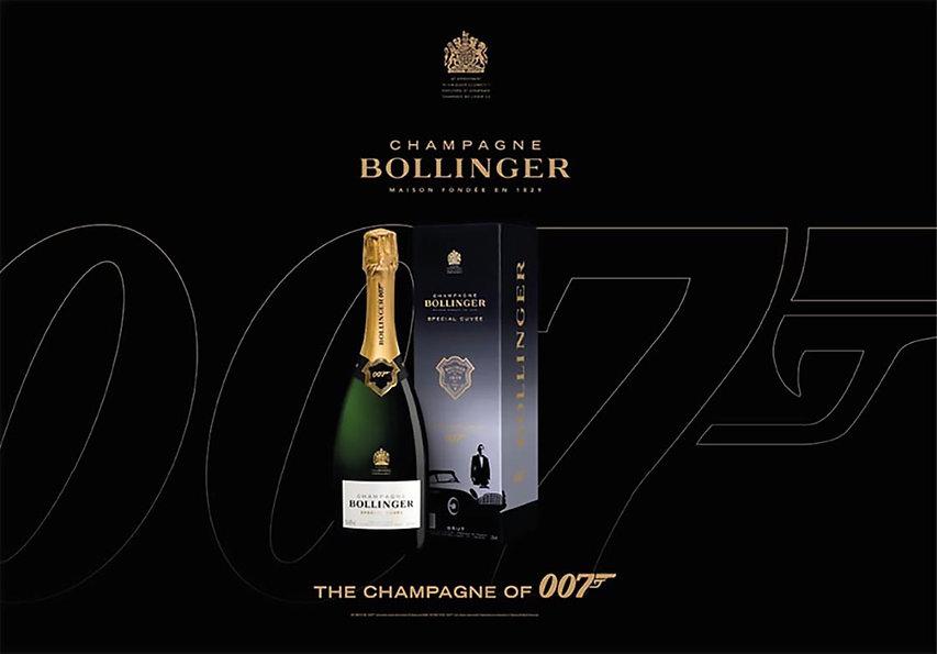 Champagne Bollinger Spécial Cuvée Brut - Édition 007 - Union d'excellence et d'élégance, depuis 40 ans