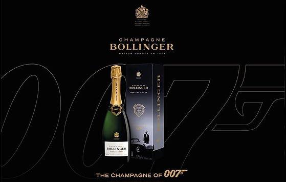 Champagne Bollinger Spécial Cuvée Brut, Édition 007 - Union d'excellence et d'élégance, depuis 40 ans