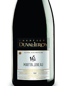 Champagne Duval-Leroy Cuvée Sur-Mesure Martin Juneau - Martin Juneau, premier chef en Amérique du Nord à collaborer avec la Maison
