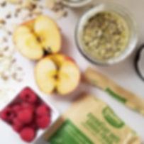 Yumi Organics - gruau-frigo matcha-pomme verte