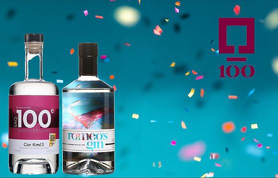 Éditions spéciales 100e anniversaire de la SAQ - 2 gins d'ici se parent d'un habillage spécial pour l'occasion