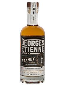 Georges-Étienne, compagnon des soirées fraîches - Brandy de pomme québécois vieilli trois ans en fût de chêne
