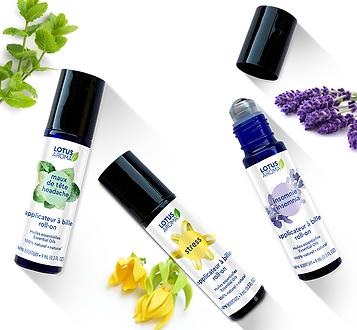 Lotus Aroma_Applicateurs à bille d'huiles essentielles