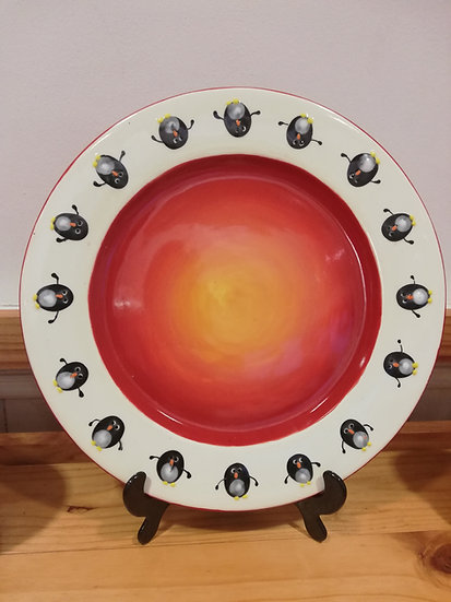 Prickly Fish Penguin Plate