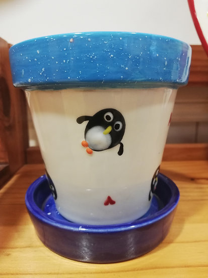 Penguin Flower Pot